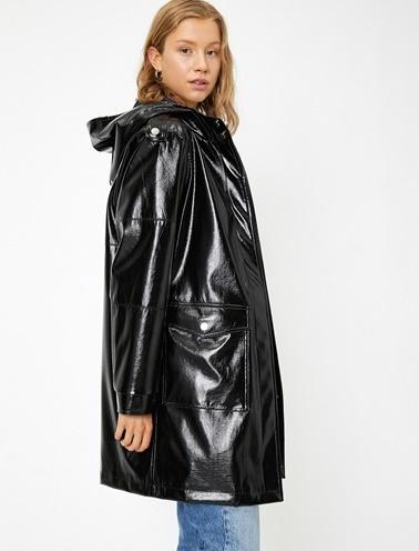 Koton Yağmurluk Siyah